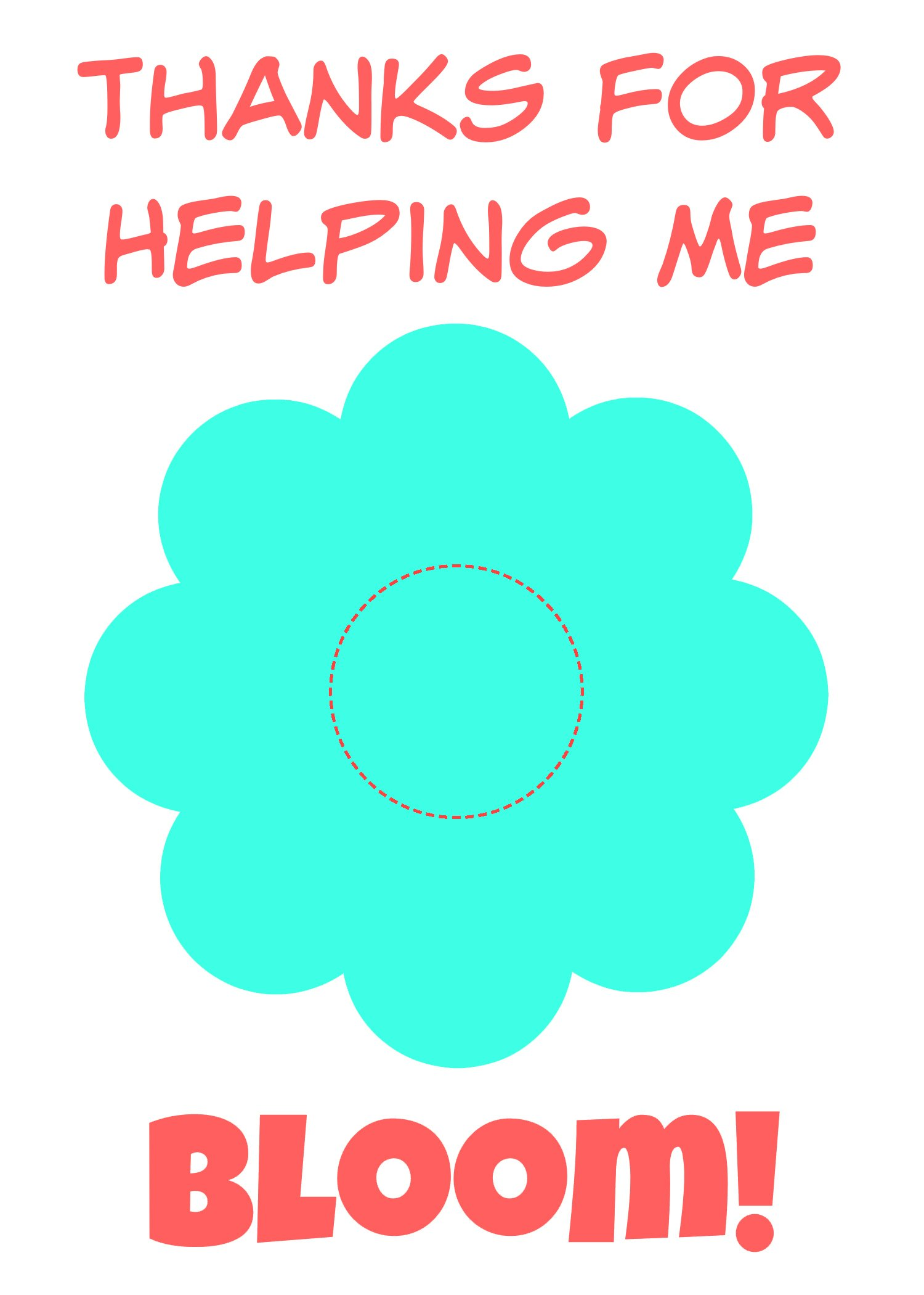 It is an image of Astounding Thanks for Helping Me Bloom Printable