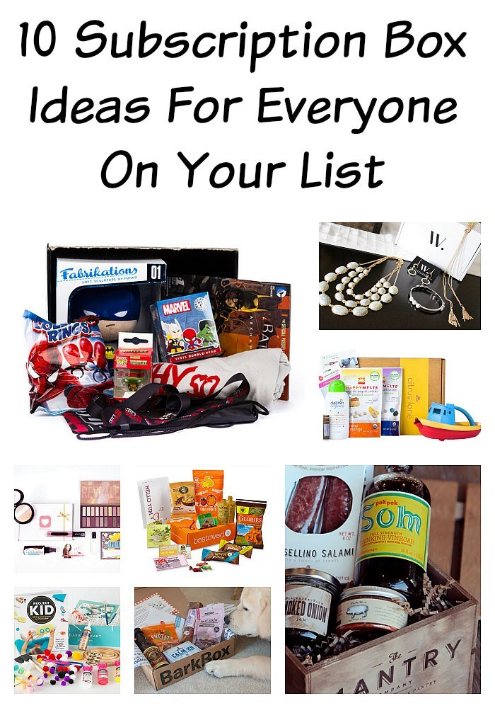 10 Monthly Subscription Box Ideas For Everyone