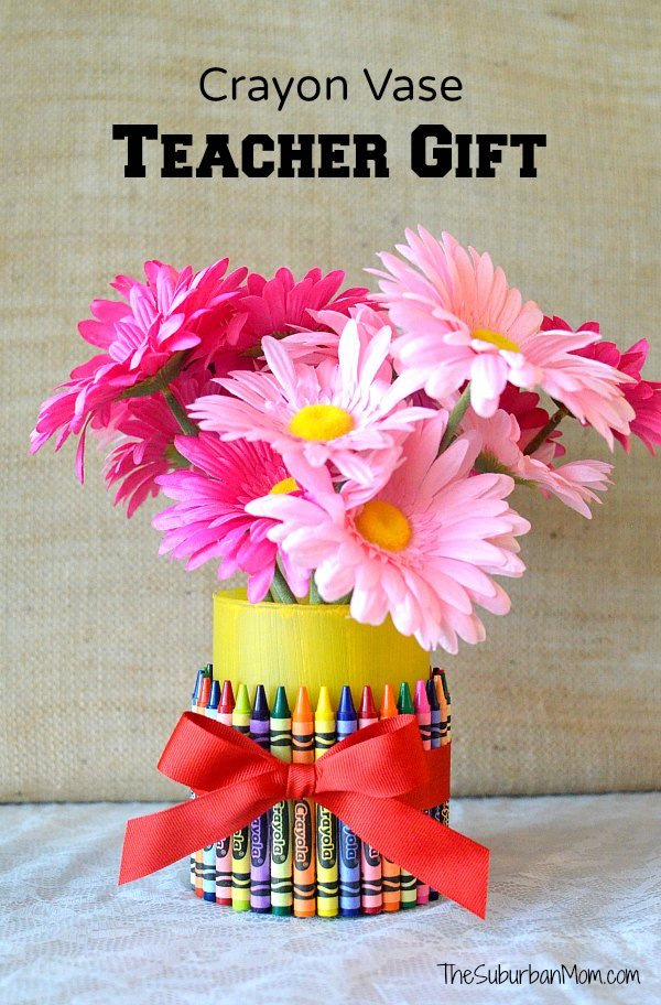 Crayon Vase Teacher Gift