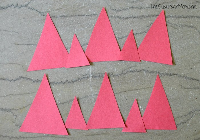4th of July Crown Paper Triangles