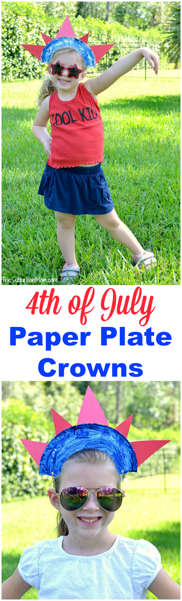 sc 1 st  The Suburban Mom & 4th of July Paper Plate Crown