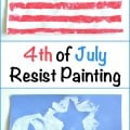 4th of July Resist Painting Kids Craft