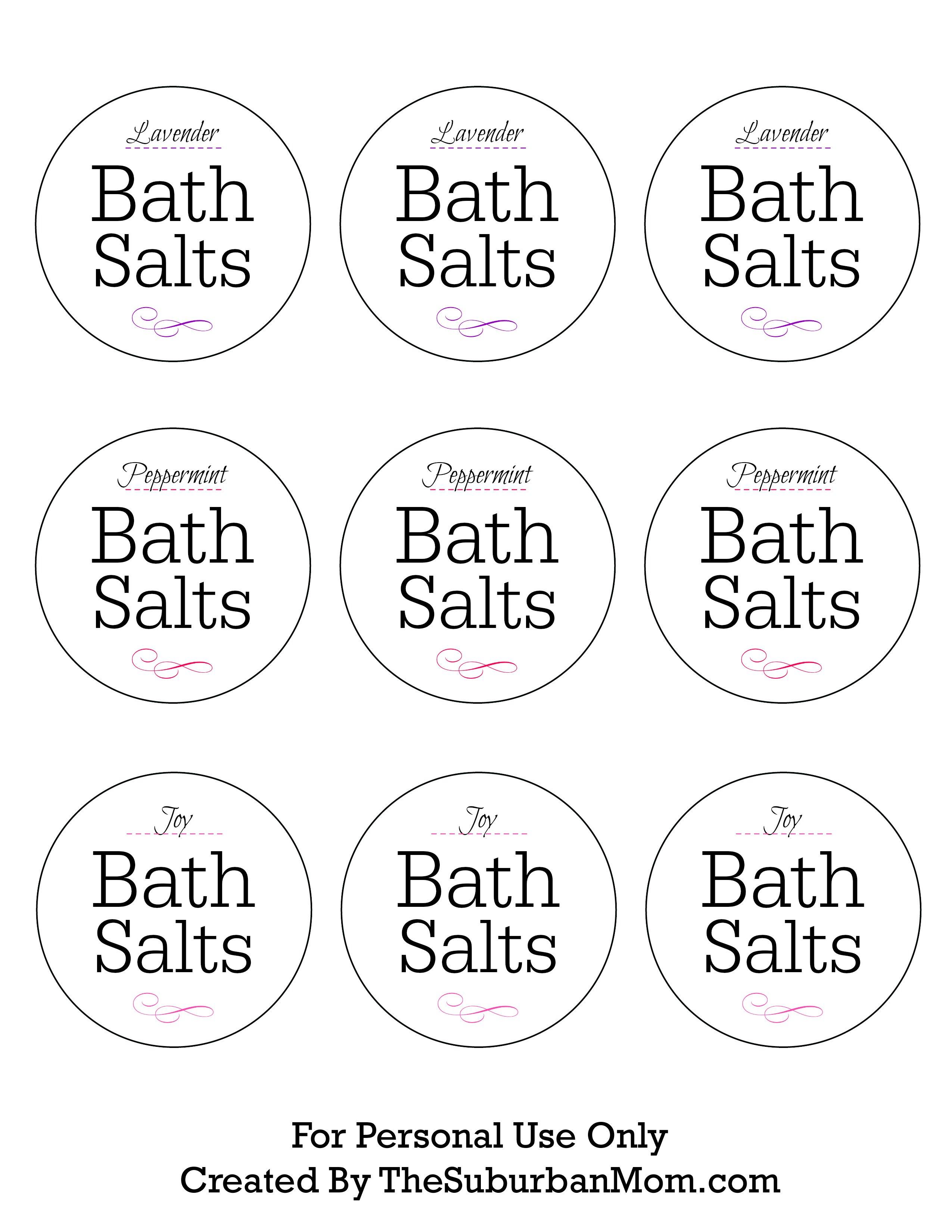 How To Make Lavender Bath Salts Printable Gift Tag