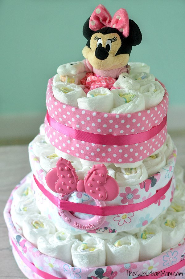 How To Decorate A Baby Diaper Cake