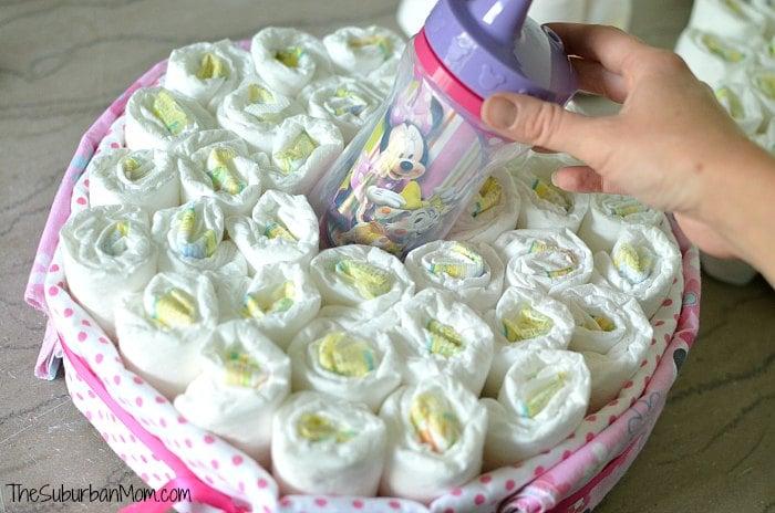 Hidden Sippy in Diaper Cake