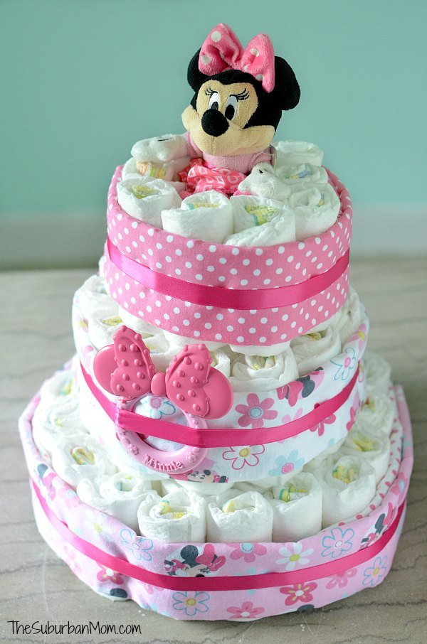 How To Make A Minnie Mouse Nappy Cake