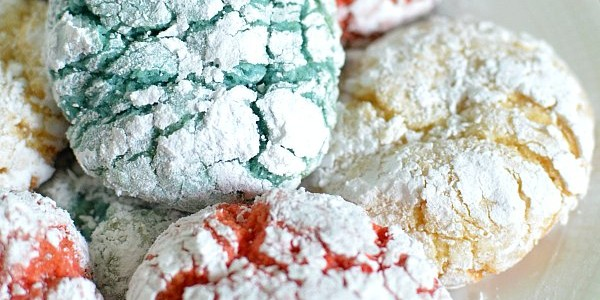Red White and Blue Crackle Cookies
