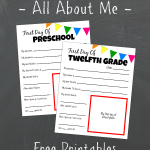 All About Me Free Printable – First Day Of School Tradition