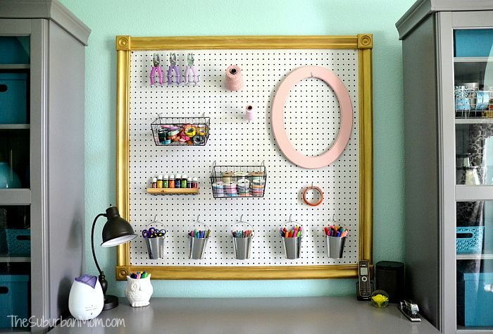diy giant framed pegboard