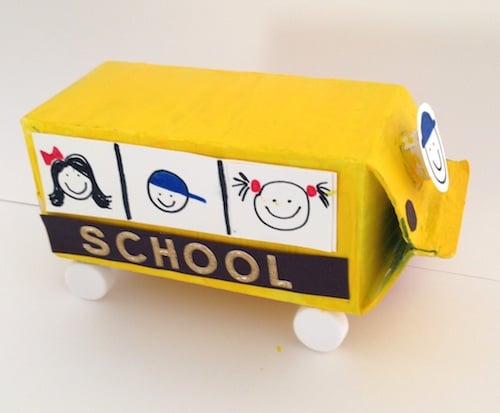 Milk Carton School Bus Craft