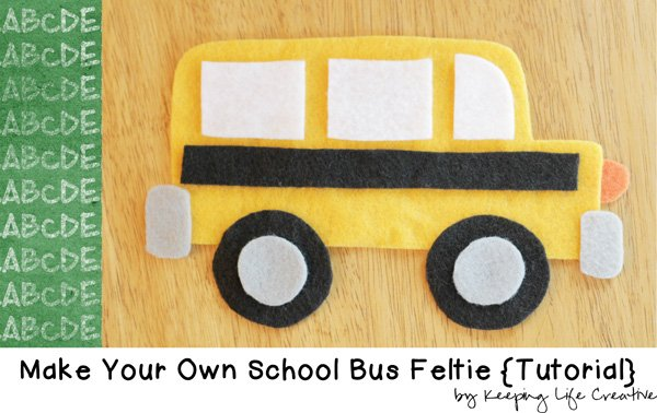 School Bus Feltie Craft