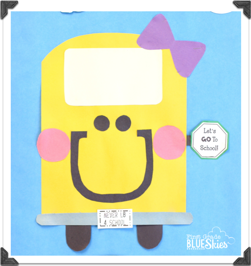 School Bus Paper Craft