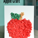 Tissue Paper Apple Craft (Perfect For Preschoolers)