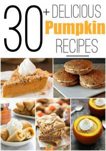 30 Pumpkin Recipes