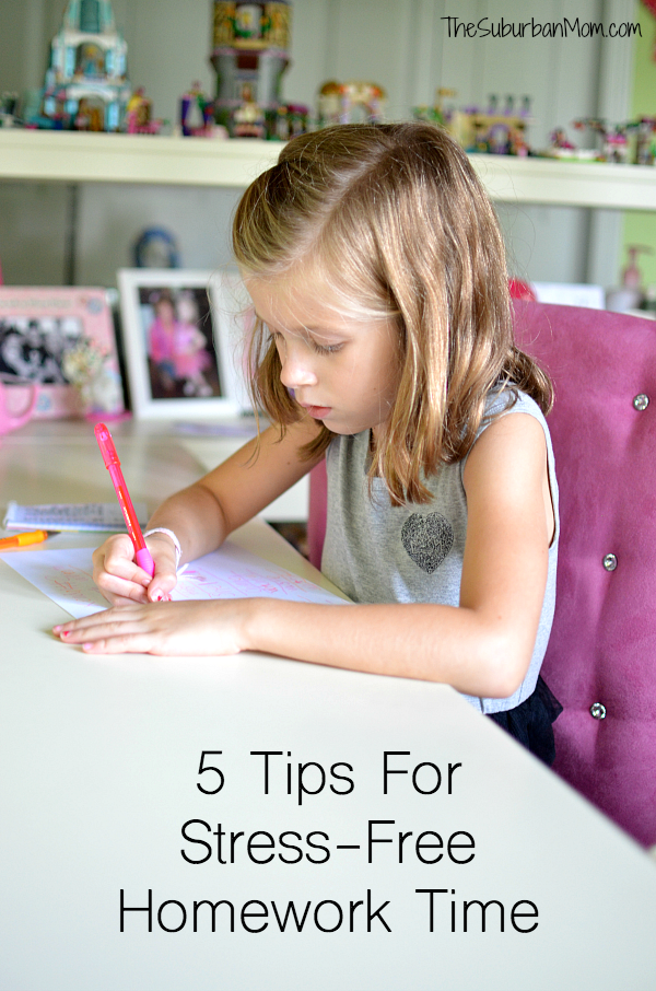 5 Tips For Stress-Free Homework Time