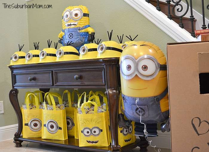 Minion Birthday Party Favors