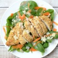 Parmesan Herb Crusted Chicken Salad