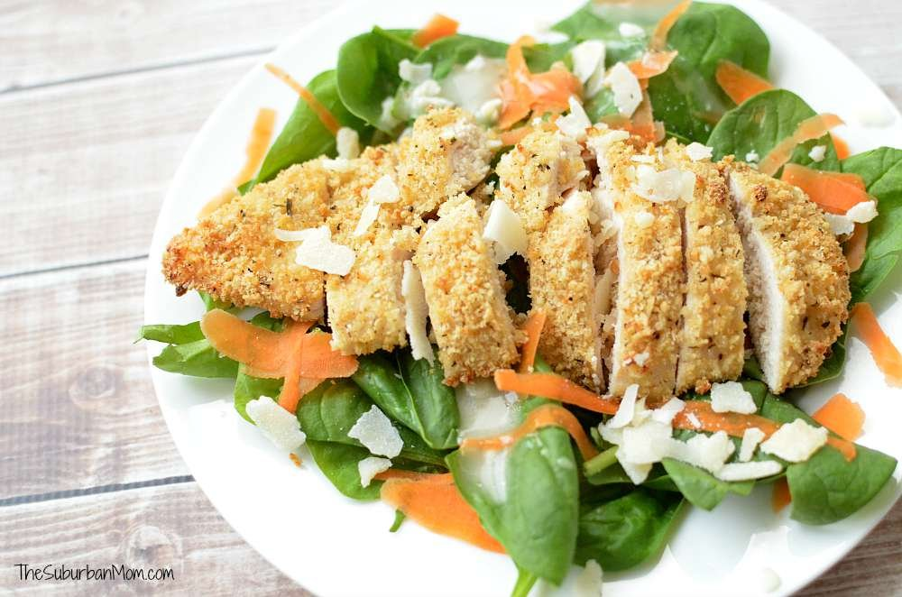 Parmesan and Herb Crusted Chicken Salad 2