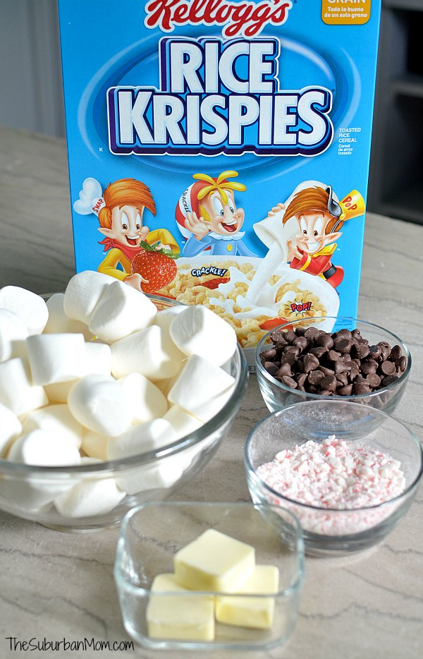Candy Cane Rice Krispies Treats Ingredients