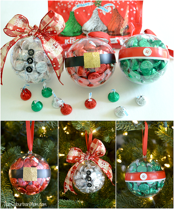 Diy christmas ornaments with hershey 39 s kisses for Simple christmas decorations to make