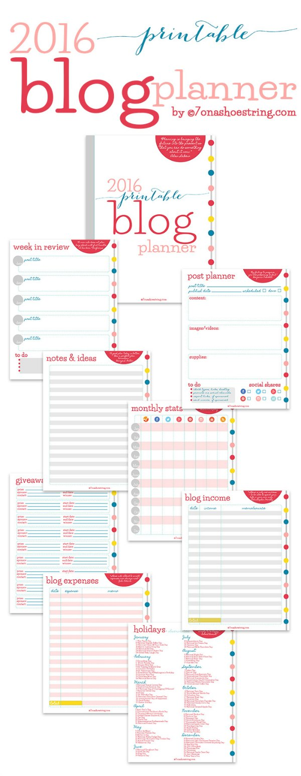 Exhilarating image inside blog planner printable