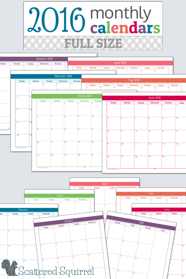 12 month calendar template 2015 with space to write in for 12 month planner template