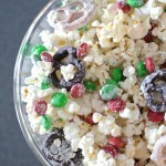 Chocolate Christmas Popcorn Mix