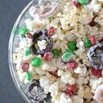 Chocolate Christmas Popcorn Mix