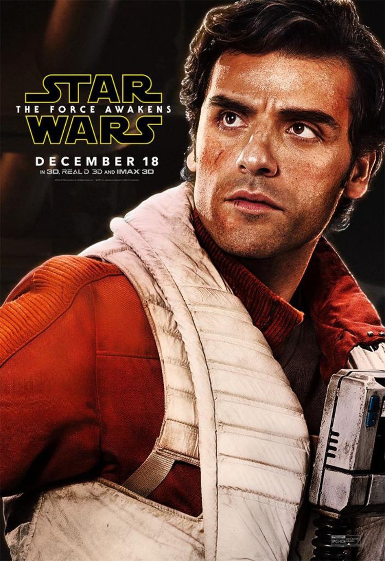 Poe Dameron Star Wars The Force Awakens Poster