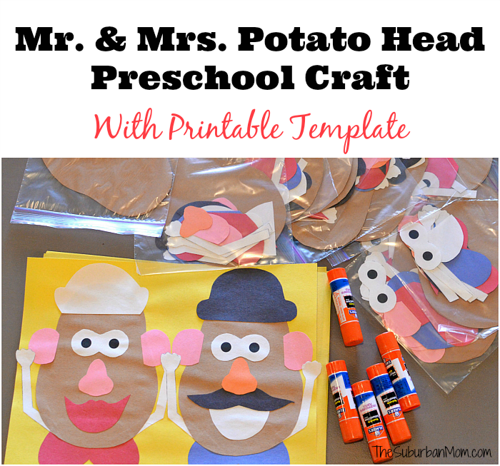 Mr And Mrs Potato Head Craft For A Toy Story Party