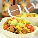 Feed Your Hungry Fans Football Taco Bowls + Free Football Printable