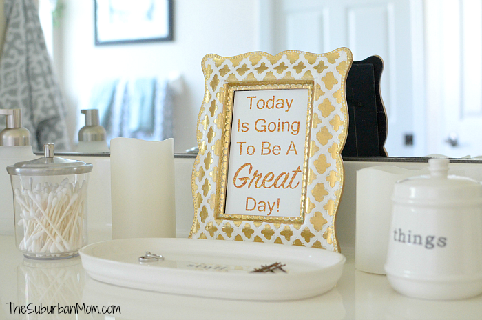 Today is going to be a great day free printable sign for Home and garden bathroom designs