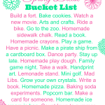 Spring Break Bucket List ~ Free Printable