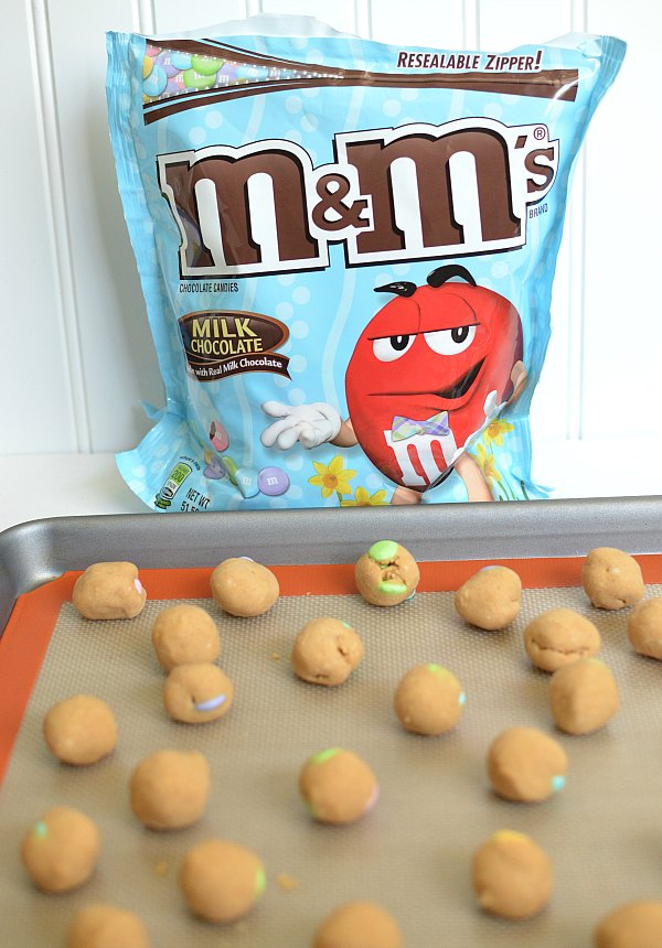 Peanut Butter Balls With M&Ms