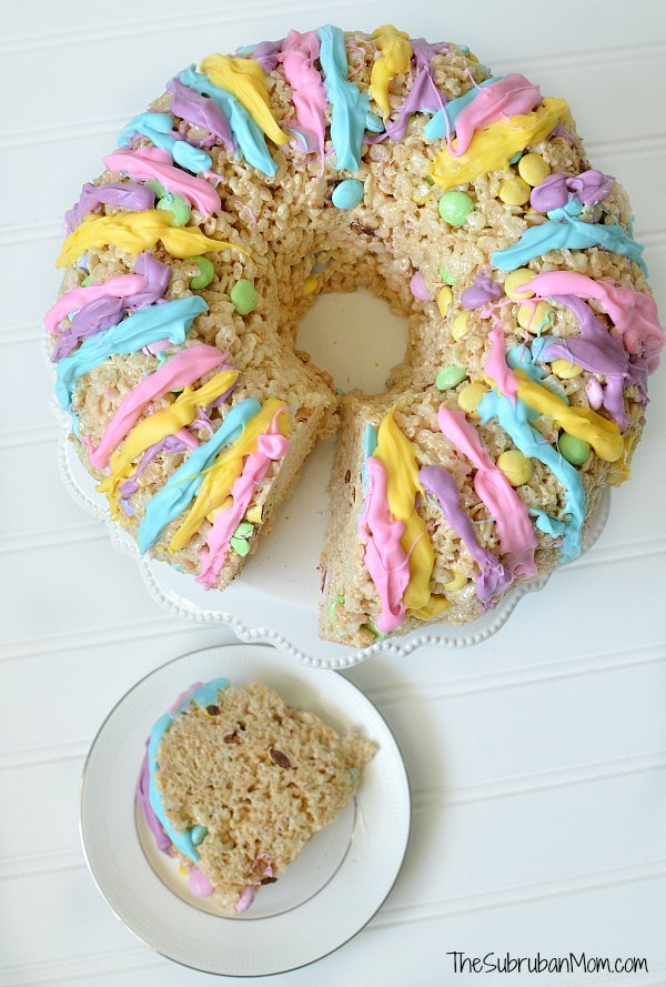 Easter Rice Krispies Treat Cake Recipe