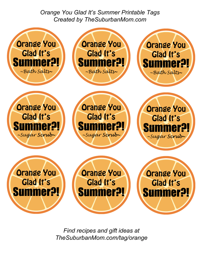 Orange You Glad It's Summer Tags