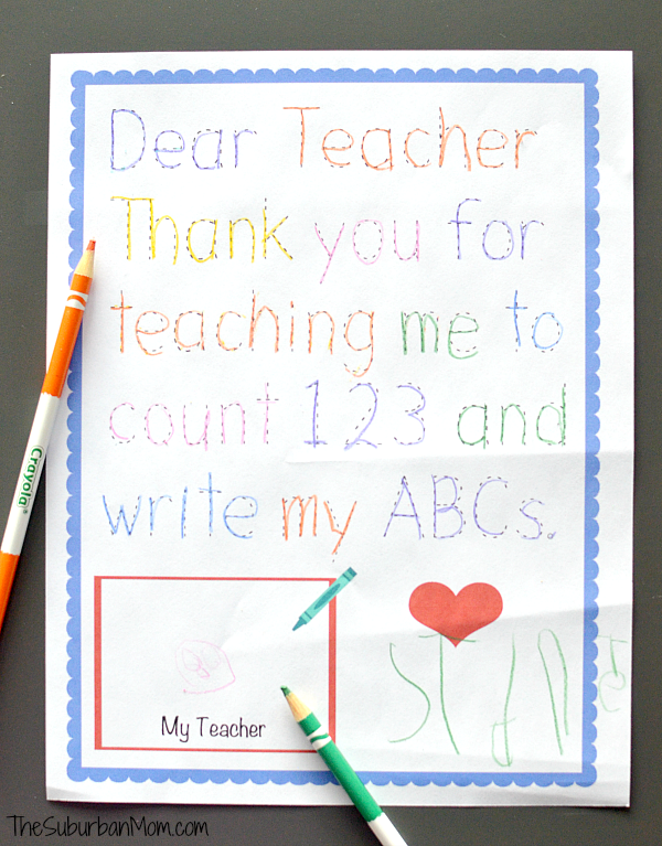 Preschool Teacher Appreciation