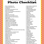 The Ultimate Disney Photo Checklist (Printable Checklist)