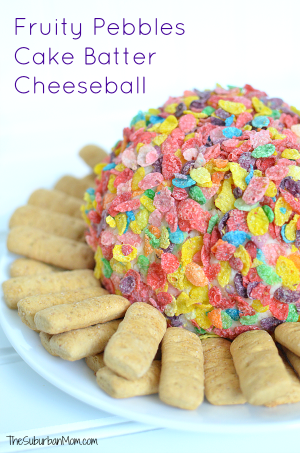 Fruity Pebbles Cake Batter Cheeseball Recipe