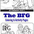 Disney's The BFG Coloring Pages And Activity Pages