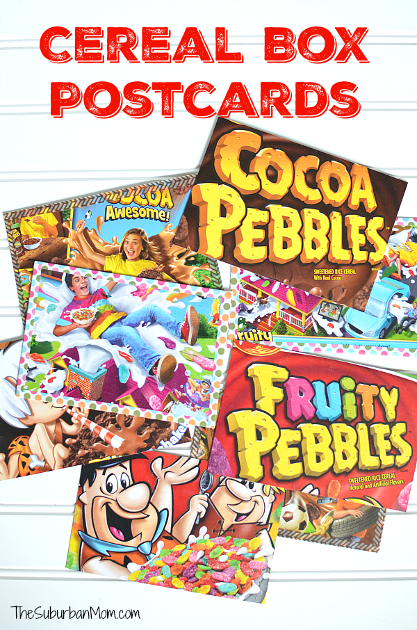 Cereal Box Postcards
