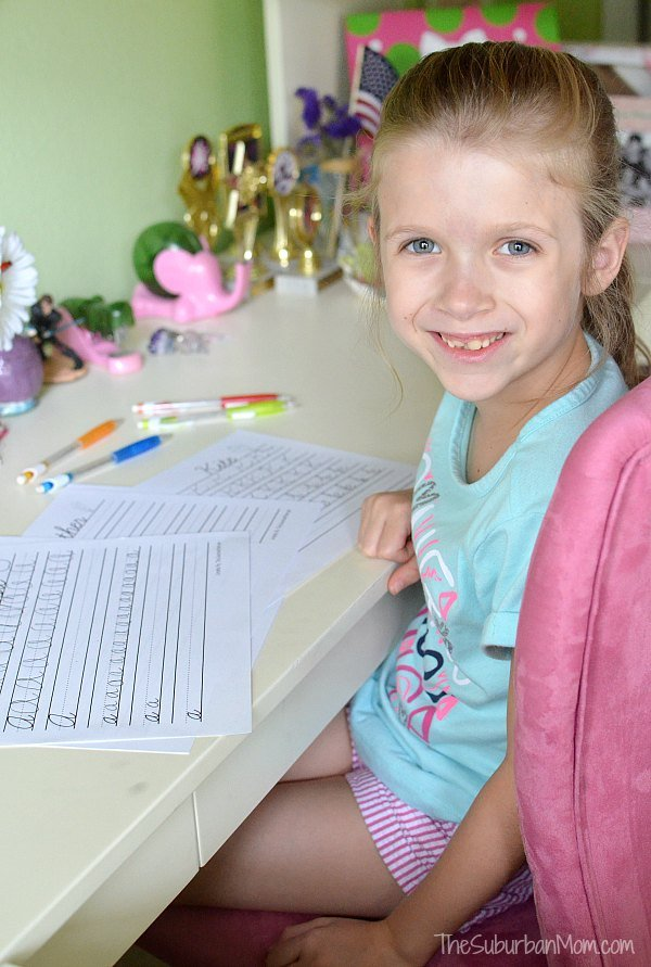 Cursive Worksheet Practice