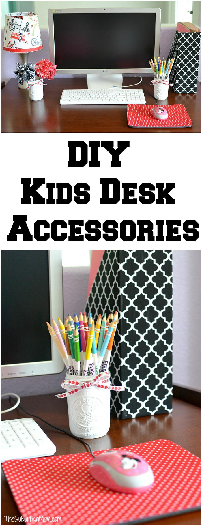Diy kids desk accessories back to school for Diy office accessories