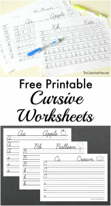 Free Printable Cursive Worksheets
