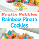 Rainbow Star Pinata Cookies