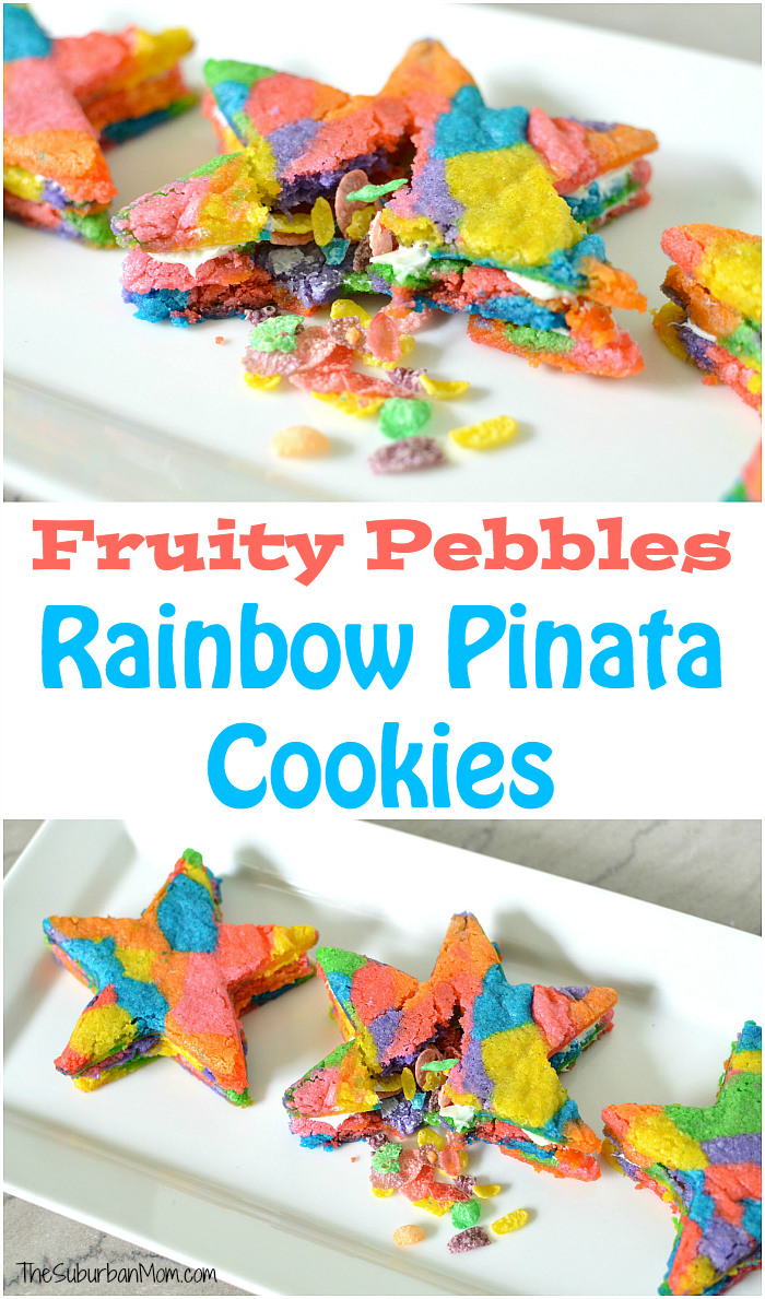 Fruity Pebbles Rainbow Pinata Cookies