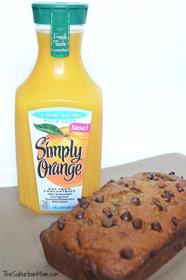 Orange Juice And Banana Bread