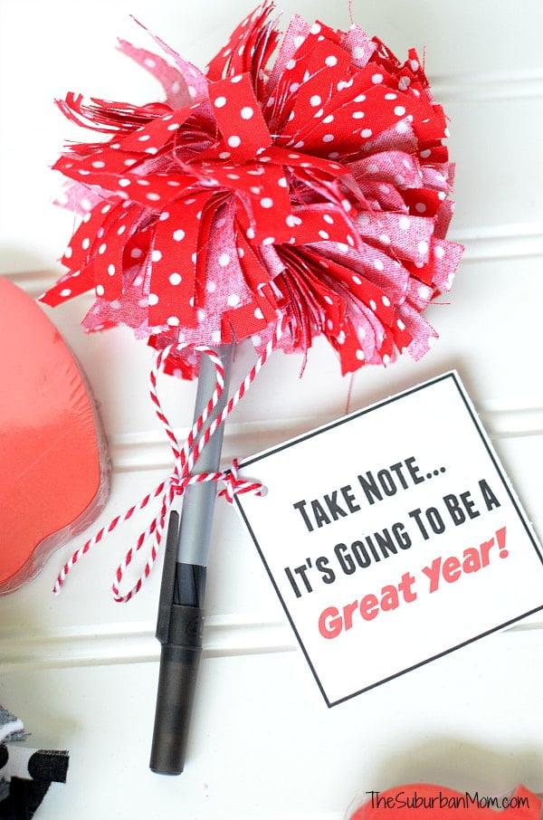 Pom-Pom Pens Teacher Gift