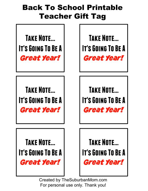 Printable Teacher Gift Tag