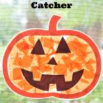 Pumpkin Sun Catcher Kids Craft